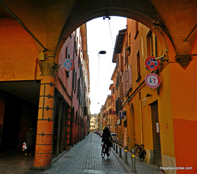 Rua do Centro Histórico de Bolonha