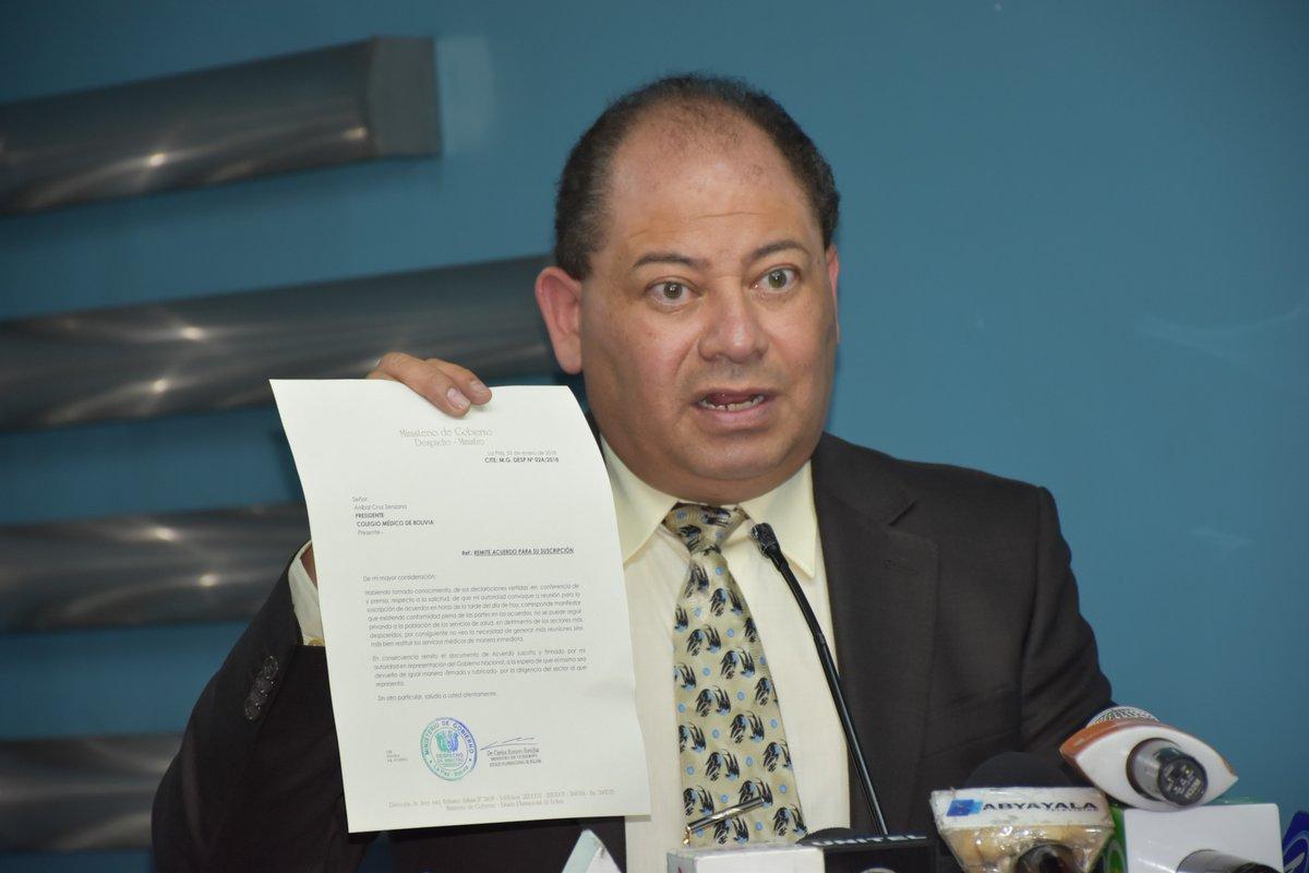 Romero descartó una nueva reunión con el sector médico para firmar el acuerdo / MIN. GOBIERNO