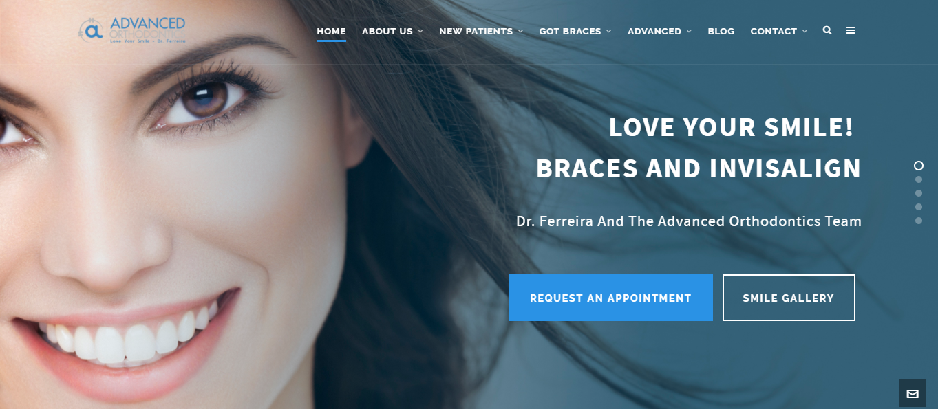 Advanced Orthodontics Wordpress Web Design