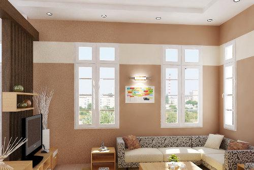 Bajar en apariencia un techo alto for Pintura pared color vison