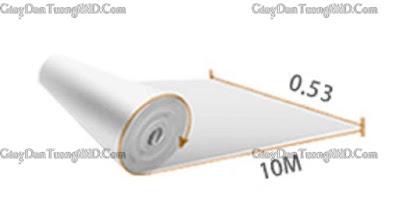 Quy cách 1 cuộn giấy dán tường Ý