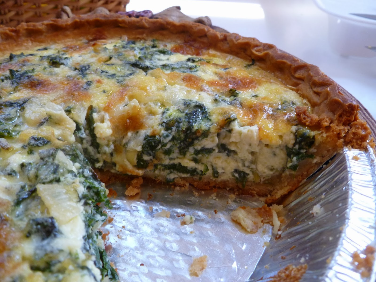 Lindaraxa swiss chard onion and gruyere quiche for Quiche not setting
