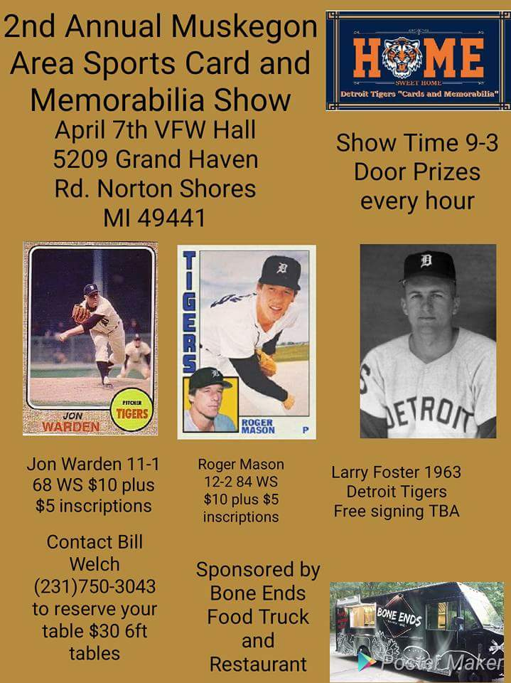 Johns Big League Baseball Blog Michigan Card Showsmuskegon