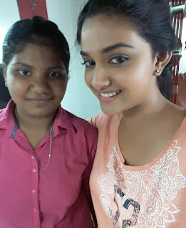 Keerthy Suresh in Orange Color T-Shirt with Cute Smile Latest Selfie