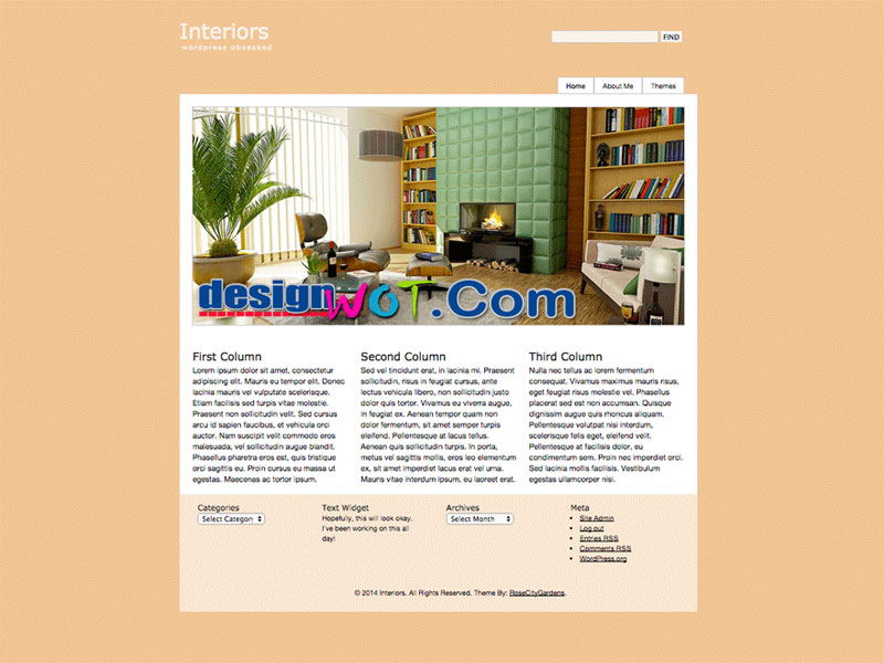Interiors WordPress Theme