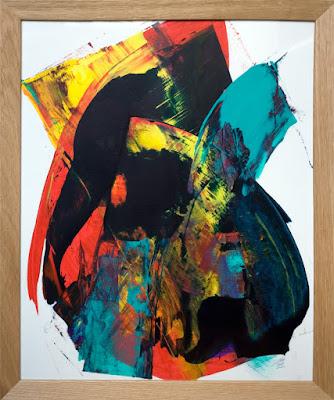 peinture jean baptiste besançon sur papier acrylique