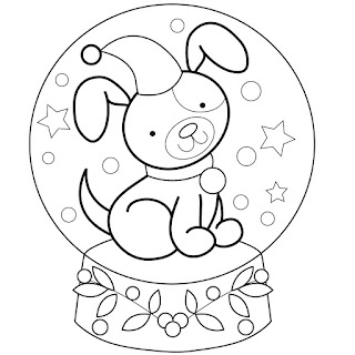 snow globes coloring pages - photo#3
