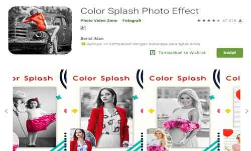 color splash aplikasi edit foto keren terbaik untuk android