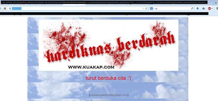 Website UMSU Di Deface Oleh Hacker Dengan Pesan HARDIKNAS BERDARAH Turut Berduka Cita