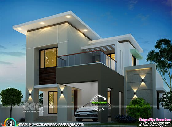 Beautiful flat roof model contemporary residence 1650 sq-ft
