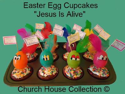 Church House Collection Blog Easter Egg CupcakesJesus Easter Egg