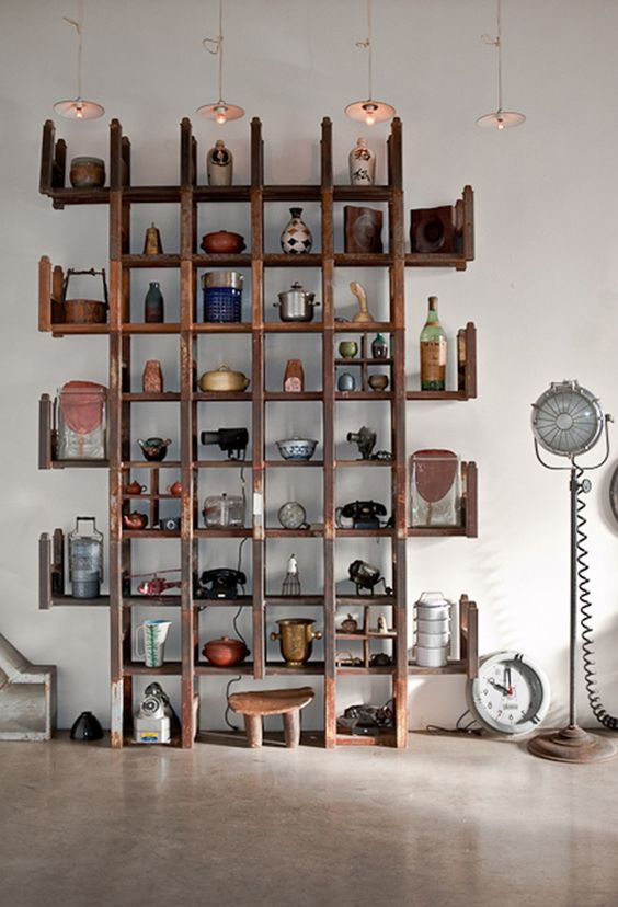 deco bibliotheque style africain