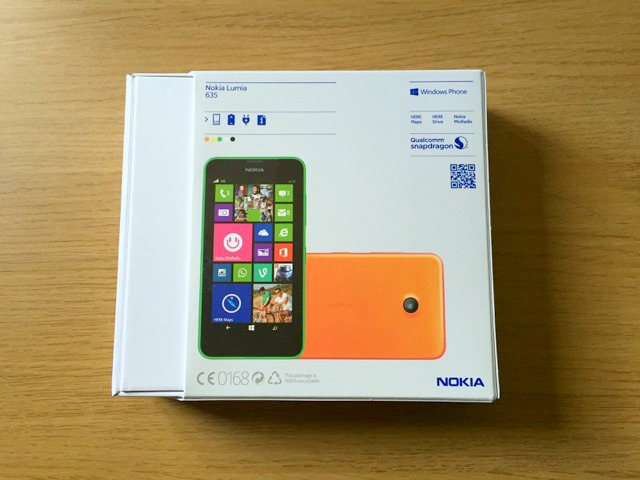 Morgan's Milieu | Choosing a Mobile Phone for Your Child: photo of the back of the box for the Nokia Lumia 635