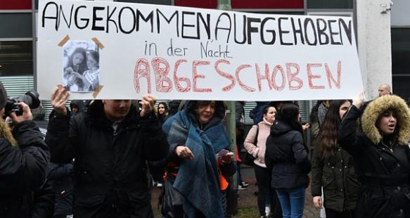 German students protests after their Albanian classmates expelled in Kosovo