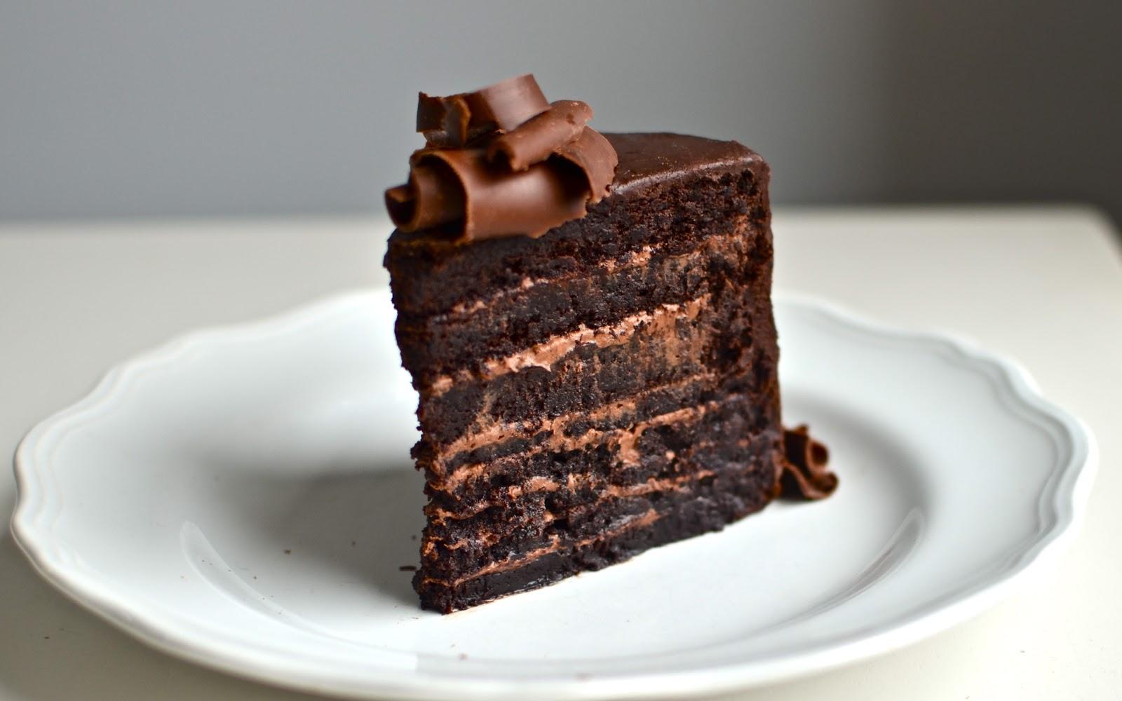 Flourless Layered Chocolate Cake