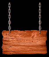 Plaquinha de madeira com corrente