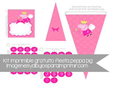 Invitaciones para imprimir de peppa pig