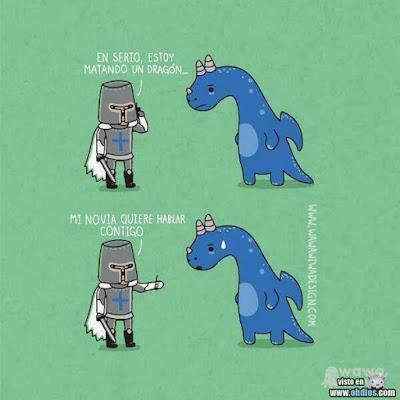 Meme de humor sobre paralelismos entre realidad y fantasía