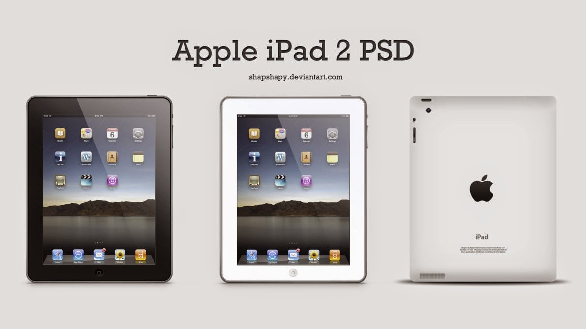 Apple iPad 2 PSD Template