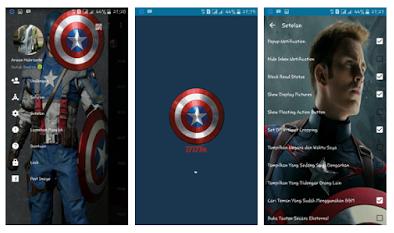 BBM MOD Captain Amerika Themes V.2.13.1.14 APK