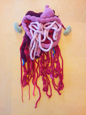 Crochet Halloween costume for half-torso baby zombie