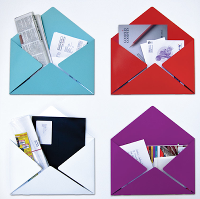 envelope-shaped wall folders for papers