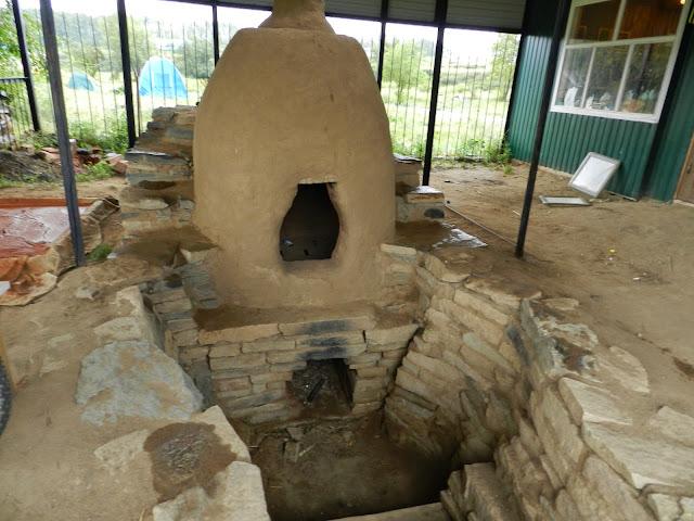 Модель древней печи в Аркаиме