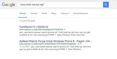Hal yang bisa dilakukan search engine google.