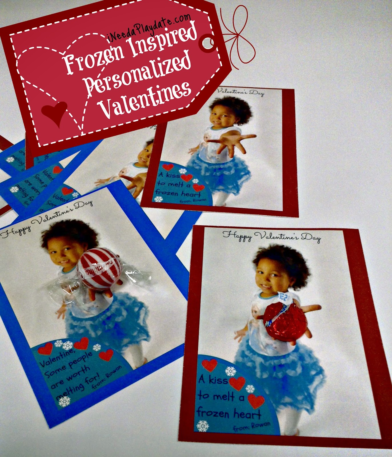 Finished #Frozen Inspired Personalized Valentine