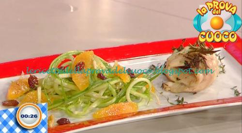 Trota al forno con insalatina di puntarelle ricetta Beretta da Prova del Cuoco