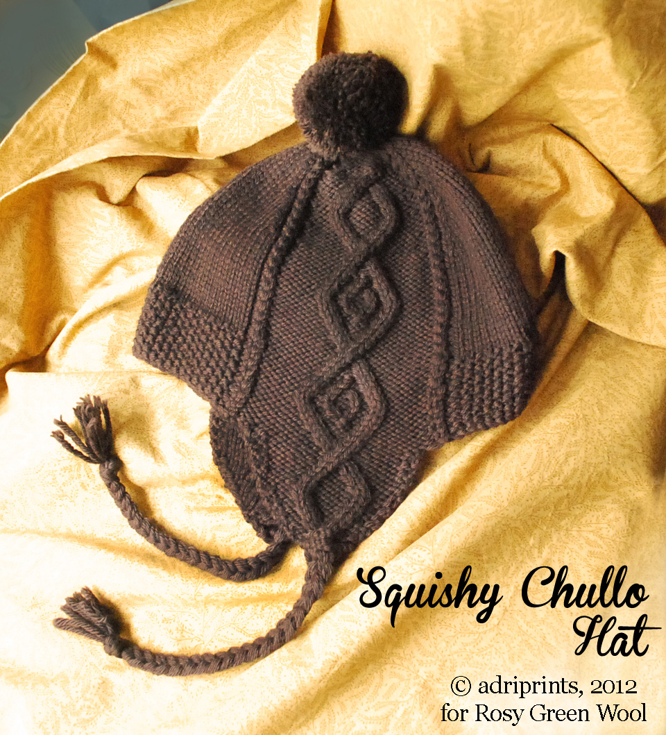 6dcd0ade86a The Squishy Chullo Hat pattern features lofty cables atop a purled field