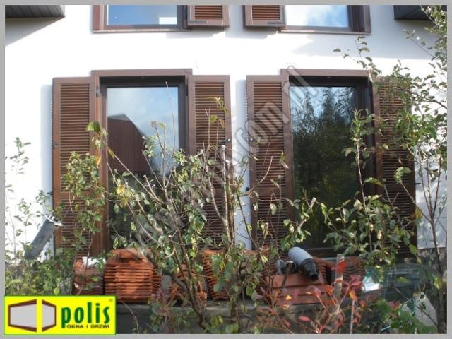 okiennice zewnętrzne, okiennice Łódź, okiennice producent, okiennice drewniane, cena,,