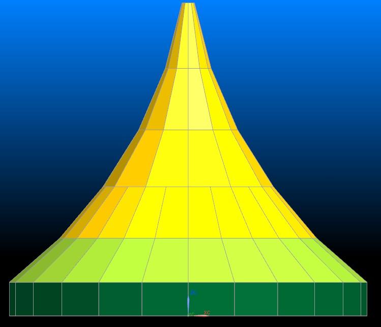 Gambar Sketsa rencana atap kubah
