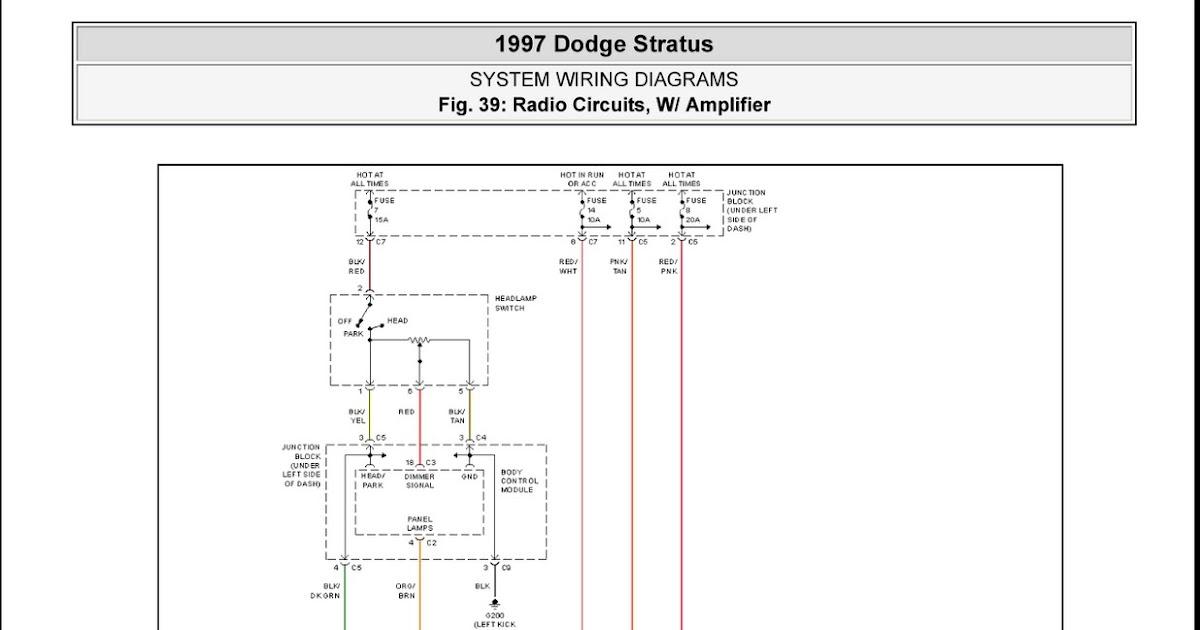 1997 Dodge Stratus Radio Circuits, W Amplifier System Wiring Diagrams | Schematic Wiring