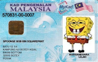 Contoh Kartu MyKad Malaysia