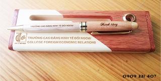 Bút gỗ khắc tên đẹp, bút gỗ quà tặng cao cấp maple