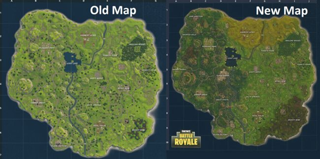 fortnite old map new map comparison
