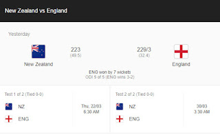Nz Vs Eng | England tour of New Zealand, 2018