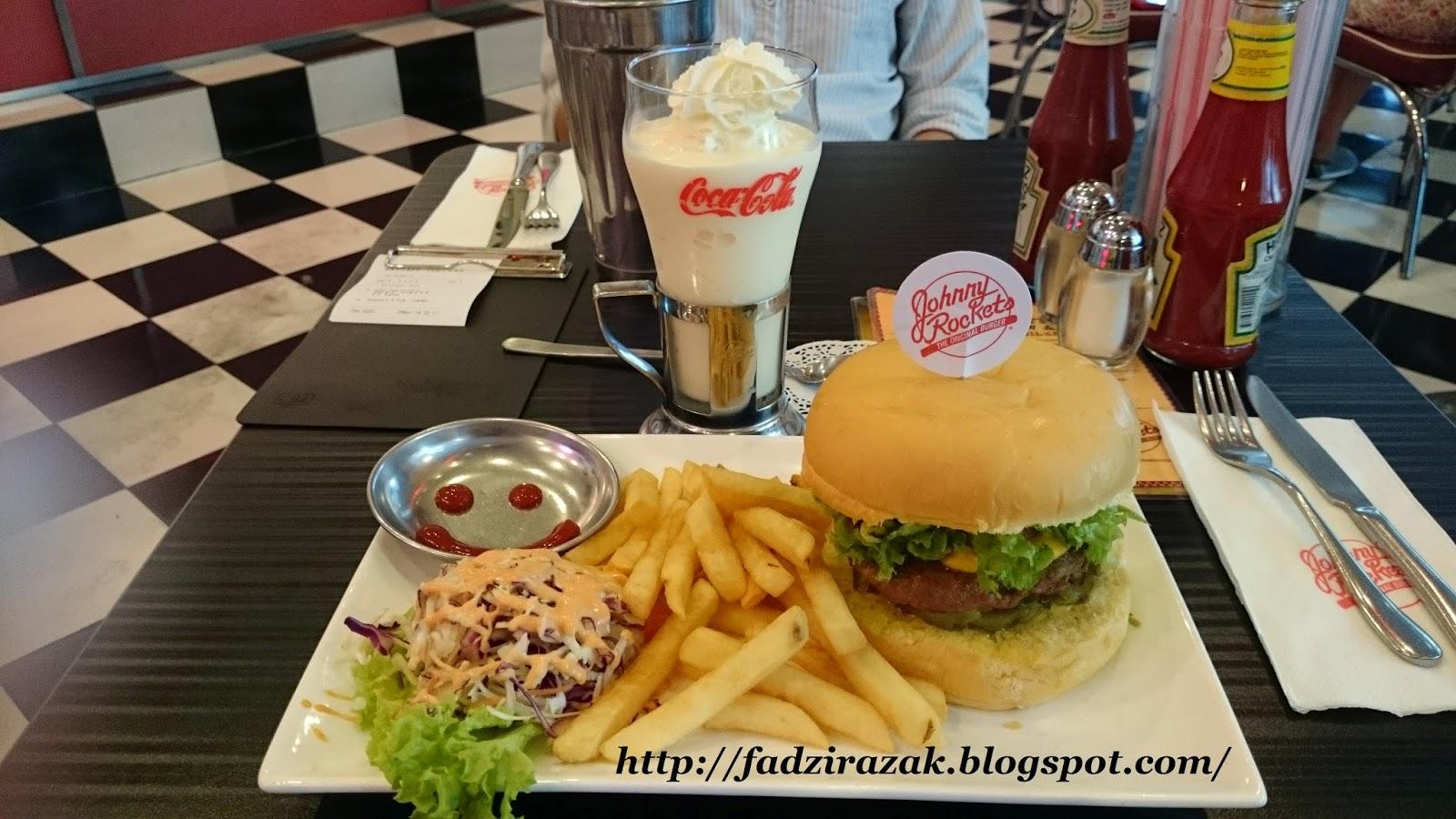 Beef burger Johnny Rockets