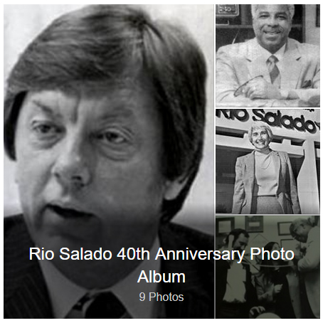 Collage of archival images.  Text: Rio Salado 40th Anniversary Photo Album