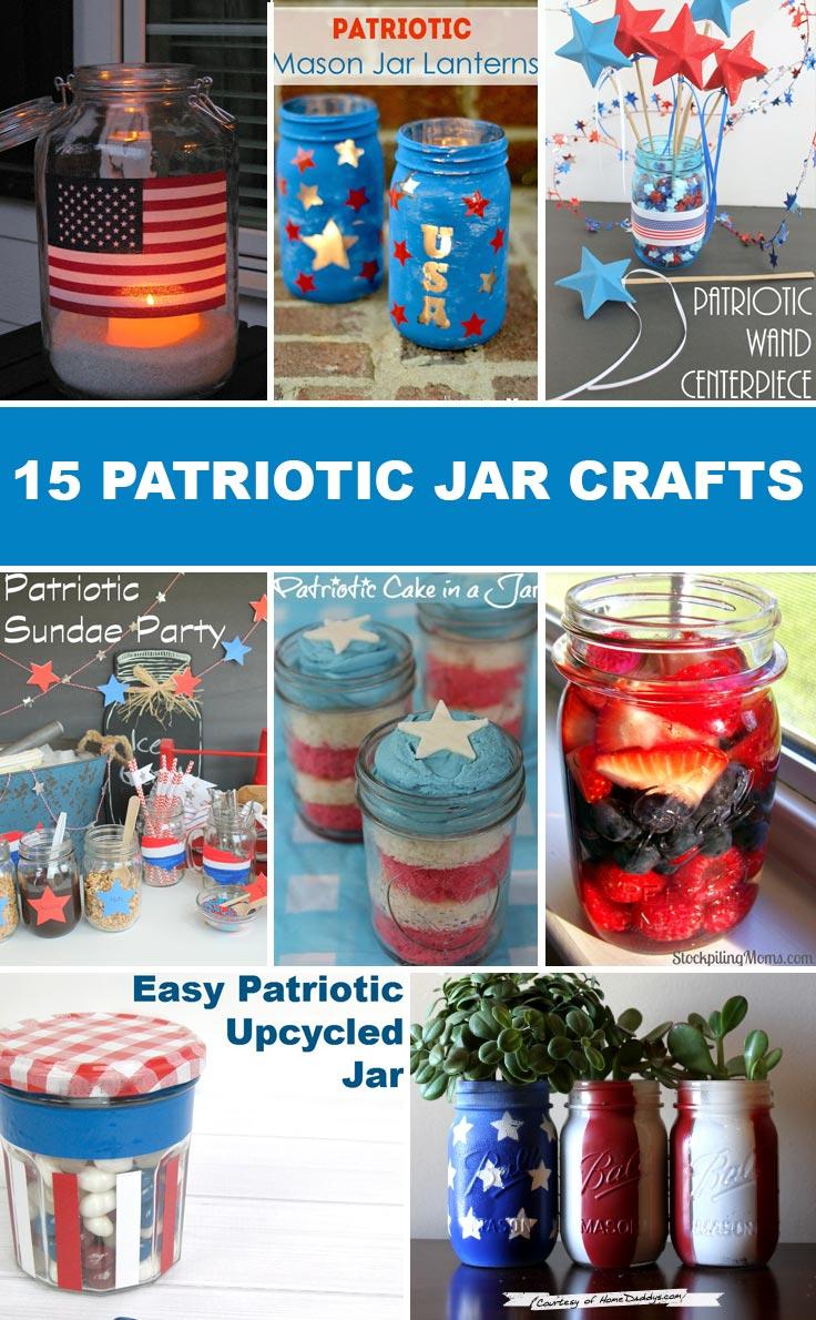 Crafts With Jars Patriotic Jar Crafts