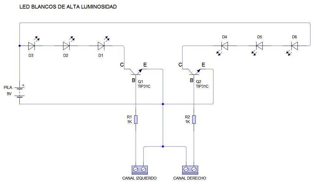 Circuito Luces Audioritmicas : Elctronica primero de bachillerato circuitos electronicos