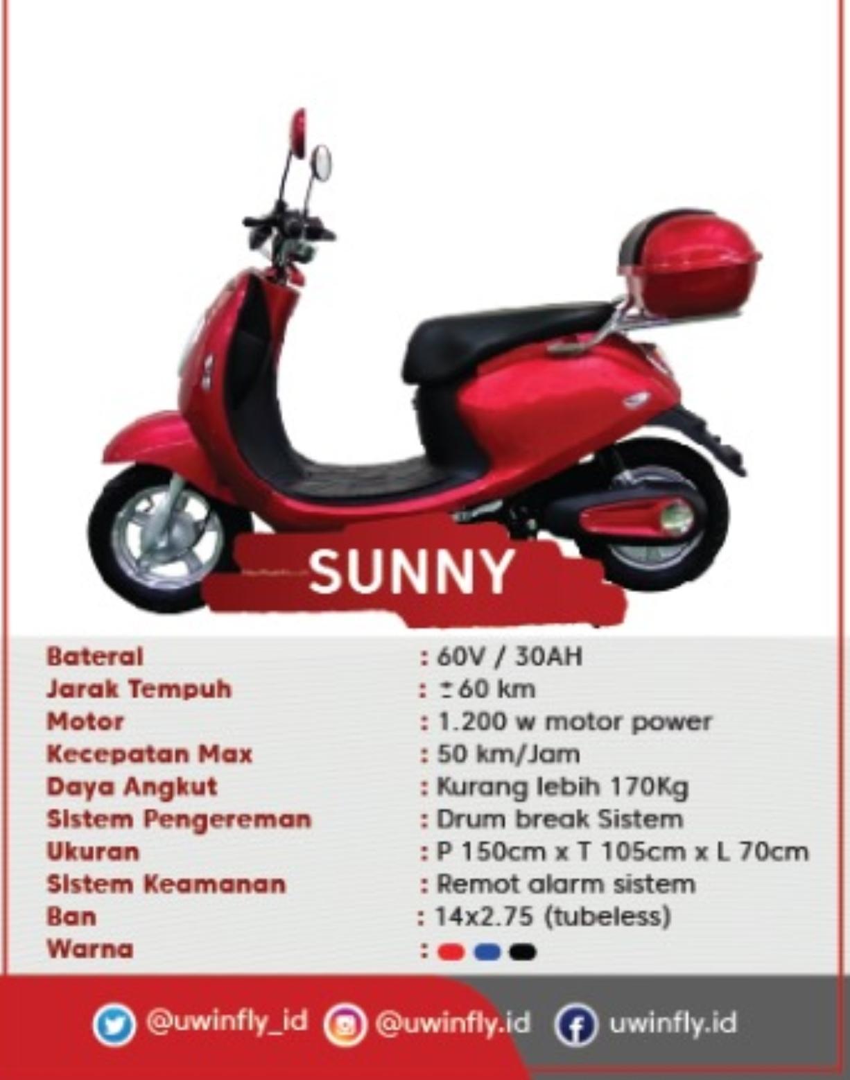 Sepeda Listrik U-Winfly Sunny 585cafbb52
