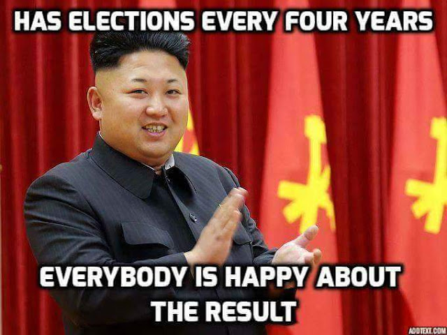 Funny Kim Jong-un Elections Every Four Years Picture