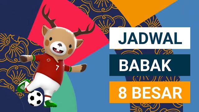 Gambar jadwal babak 8 besar Asian Games 2018