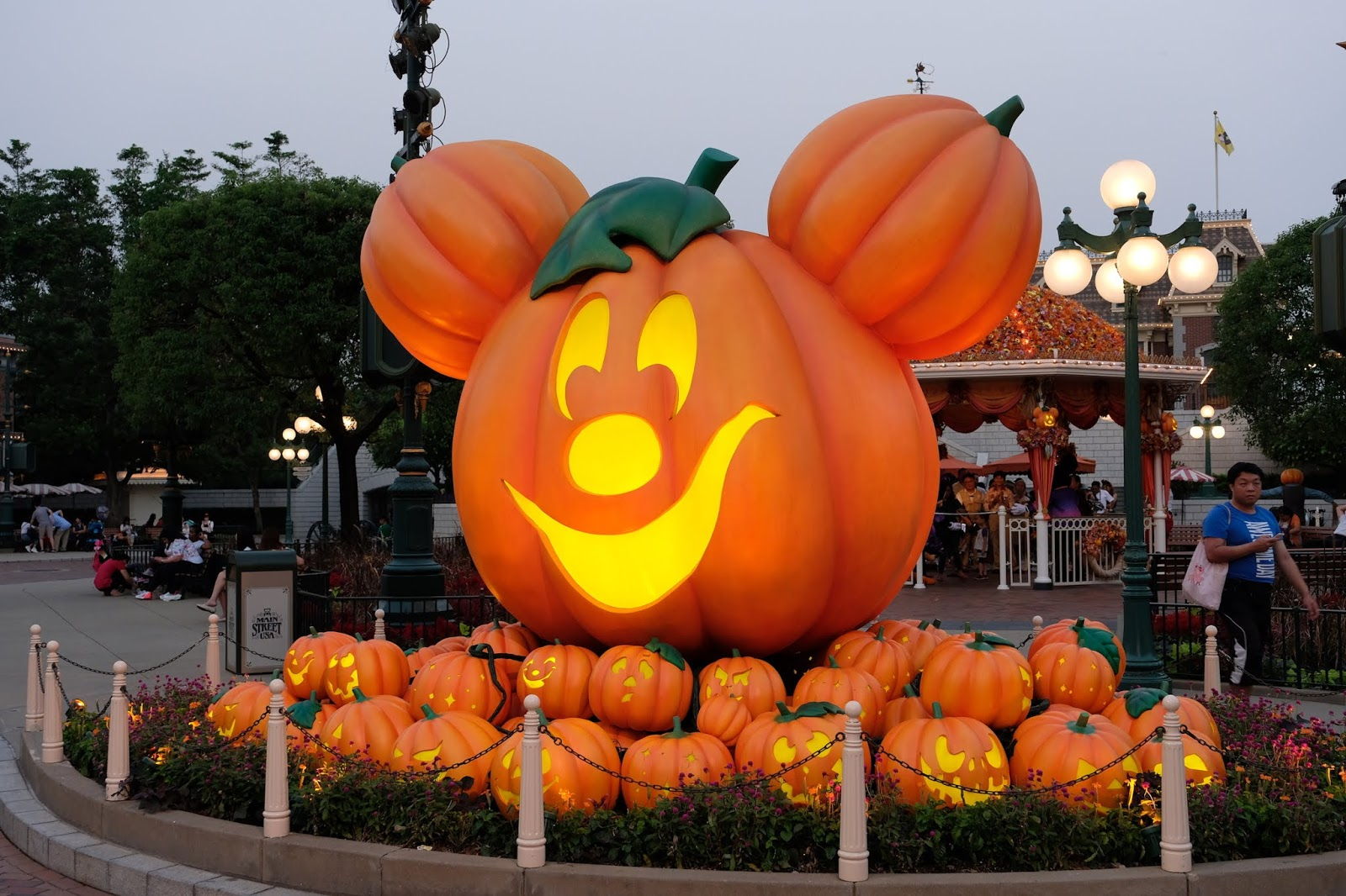 Mickey pumpkin at Hong Kong Disneyland