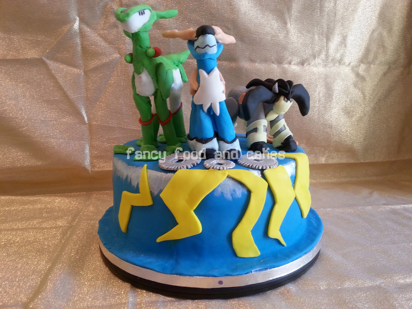 fancy food cakes torta pokemon solenni spadaccini pokemon cake swords of justice. Black Bedroom Furniture Sets. Home Design Ideas