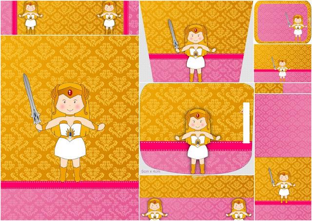 She Ra Bebé: Etiquetas para Candy Buffet para Imprimir Gratis.