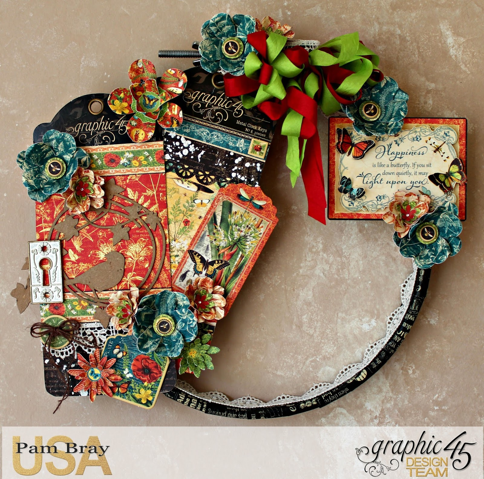 Scrapbook flair pam bray designs upcycled nature