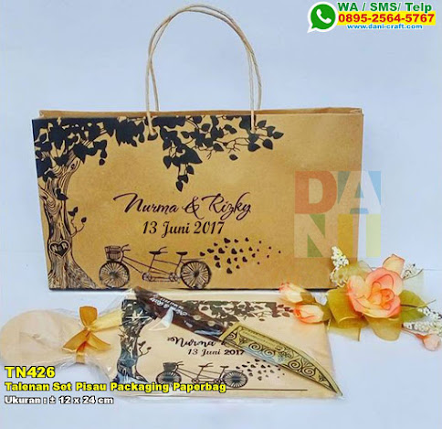 Talenan Set Pisau Packaging Paperbag